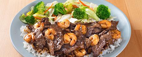 Beef and Shrimp Teriyaki